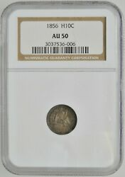 1856 Seated Liberty Half Dime Graded Ngc Au 50 Philadelphia Mint Investment Coin