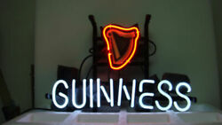 Guinness Harp 17x14 Neon Sign Lamp Light Beer Bar With Dimmer