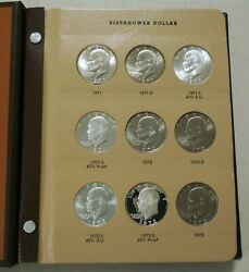 Ike Dollar Collection 1971-78pdands In Album All Bu And Proof Coins