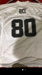 Vintageoakland Raiders Jersey Jerry Rice 80 White Nfl Football Size Xl