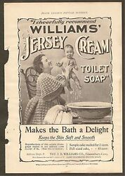 Vintage Ads For Williams' Jersey Cream Toilet Soap, Adirondack Balsam And More