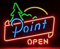 New Point Beer Open Neon Light Sign 17x14 Home Wall Decor Lamp Bar Pub Display