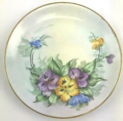 Hutschenreuther Floral Gold Trimmed Plate Bavaria Selb Collectors Plate