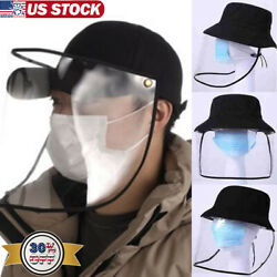 Anti-spitting Protective Cap Cover Outdoor Fisherman Hat Splash-Proof Unisex US