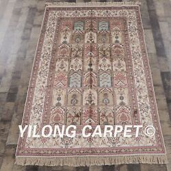 Yilong 4and039x6and039 Four Seasons Hand Made Classic Silk Oriental Area Rugs Carpets 320b