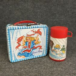 Vintage 1970's Junior Miss Metal Lunchbox With Thermos Made By Aladdin