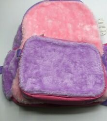 Kids Super cute fuzzy backpack with lunch bag Brand New $14.75