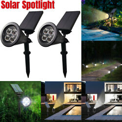 4LED Solar Power Spotlight Landscape Lights Outdoor Garden Lawn Lamp Waterproof