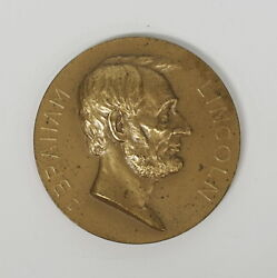 Abraham Lincoln Centennial Bronze Medal 62mm With Malice Toward None...