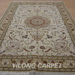Clearance Yilong 6and039x9and039 Hand Knotted Wool Silk Area Rugs Handwork Carpet 1457