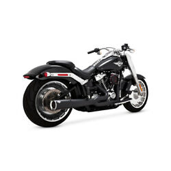 Vance And Hines 2-1 Pro-pipe Black For Harley Davidson Fatboy/breakout 18-20