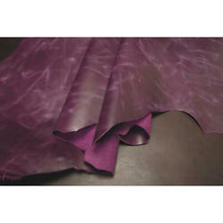 GRAPE Full Grain Oil Pull Up Cowhide Leather for Journals Crafts Laces Jewelry $18.99