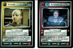 Decipher - Star Trek Ccg Promos X2 The Emissary And The Traveler - Mint Dsn/tng