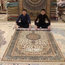 Yilong 5'x8' Hand Knotted Antique Silk Rugs Orient Carpet Hand Craft Rugs Y310ab