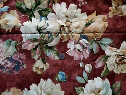 Vintage Upholstery Floral Fabric 54 Inches Wide Heavy Cotton New Old Stock