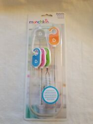 Munchkin Bottle And Cup Cleaning Brush 4 Piece Set With Brush Key Ring