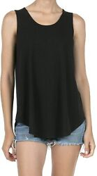 Shop Dordor Womenand039s Soft Jersey Knit Scoop Neck Sleeveless Loose Tank Top