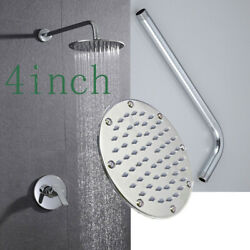 4 Inch Rainfall Shower Faucet System Set W/ Hot/cold Control Handle 1/2 Dn15