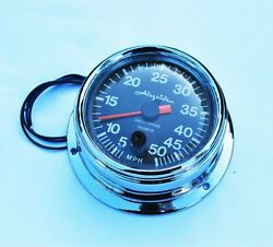 Gps Upgrade For One Vintage Airguide Speedometer. New Chrome Included.