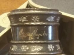 Vintage Ornate Silverplated Napkin Ring Monogram Personalized Scroll