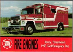 1993 Bon Air Fire Engines Series 2 159 Kersey Pa 1993 Ford/emergency One