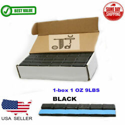 1 BOX 1 OZ BLACK WHEEL WEIGHTS STICK ON ADHESIVE TAPE 9 LBS LEAD FREE 144 PIECES