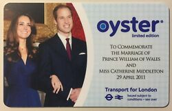 2011 Royal Wedding William And Kate - Limited Edition Tfl Oyster Card - Brand Newandnbsp