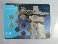 2010 Canada 14 Coin Vancouver Olympic Coin Collection Rcm 25c And 1