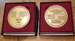 2 Russia Us Joint Chemical Weapons Destruction Facility Site Coin Medals Sc12ab