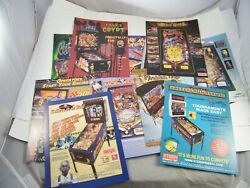 Pinball Advertising Promotional Flyers Circus Voltaire, Party Zone, Whodunnit 12