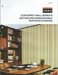 Brochure - Gold Bond - Contempo-wall Office Partition System - C1977 Af398
