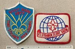 2 Vintage 1977 And 78and039 Fort Steuben Area Council Boy Scout Show Patches Bsa Camp