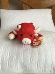 Snort The Bull Beanie Baby Rare Special Tag, Spelling Errors, And Pvc Pellets