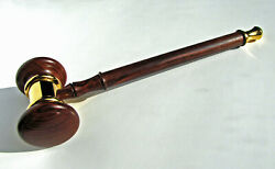 Gavel Made From Cocobolo Rosewood And Gold Plated Solid Brass