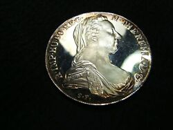 1780 Maria Theresa Crown Austria Silver Proof Coin Re-strike Beauty