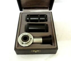 Antique Berg Swiss Microscope Coular Prisma Adjusted Black Tube Adapter Eyepiece