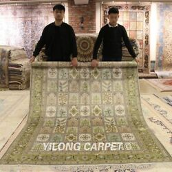 Yilong 6and039x9and039 Classic Hand Knotted Area Rug Four Seasons Silk Garden Carpets 039b