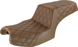 Saddlemen Step Up Seat Lattice Stitched Brown For 2020 Indian Challenger