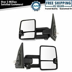 Tow Mirror Upgrade Power Folding Heat Turn Memory Puddle Chrome Pair For Tundra