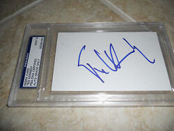 Ted Kennedy Signed Autographed 4x6 Index Card Psa Certified Graded Mint 9