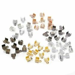Clasp Crimp Bead 200pcs Cord End Tip Beads Fold Over Buckle Cords Connector Kit
