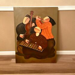 Jaymiki Musicians Oil Painting On Canvas Art Reproduction 30x40