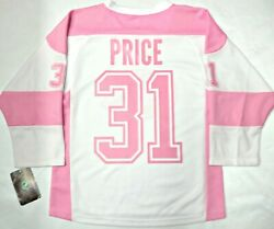 Nwt Carey Price Montreal Canadiens Girls Youth L/xl Pink Nhl License Jersey