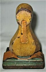 Antique Usa 293 Hubley Toy Duck Child Room Size Duckling Cast Iron Art Doorstop