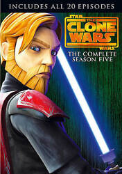 Star Wars The Clone Wars - The Complete Season Five Dvd, 2013, 4-disc Set