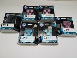Lot Of 6hp Ink Cartridge 02 Genuine Expired New Please See All Pictures.