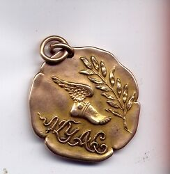 Rare March 15 1910 Ny Athletic Center Winter Games Gold Medal 1/2 Mile Relay