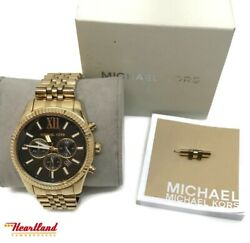 Gent's Michael Kors (MK8286) Lexington Chronograph Wristwatch (HE2025360)