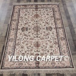 Yilong 4'x6 Classic Silk Hand Made Area Rug Traditional Hand Craft Carpets 067m