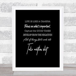 Develop From Negatives Quote Print Black And White